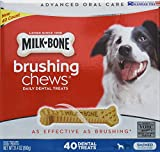 Milk Bone Brushing Chews (Small/Medium) 40 Dental Treats 31.4oz by Milk-Bone