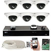 GW Security 8CH 10TB NVR 5MP H.265 Built-In Microphone Audio Recording 6 x HD 1920P IP PoE Security Camera System