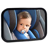 infant auto mirror - Safe Baby Car Mirror for Rear View Facing Back Seat for Infant Child,Fully Assembled and Adjustable,Backseat Shatterproof Mirror with Perfect Reflection By Hippih