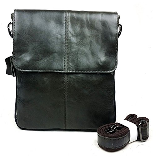 90cf12642d Men s Leather Shoulder Bag Casual Satchel Bag Retro Crossbody Messenger Bag  Handbag