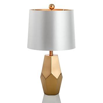 G-W-J Lámpara De Mesa E27 Simple Y Elegante, Diseño Plano De ...