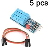 Gaoxing Tech. 5pcs DHT11 Temperature and Relative Humidity Sensor Module for arduino