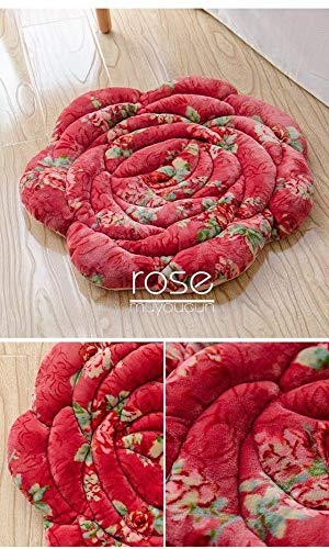 MWPO Plush Simple Rose Petal Cojín de Asiento Cojín de Felpa ...