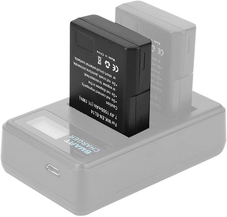 Bater/ía de Iones de Litio VBESTLIFE bater/ía EN-EL14 Adecuado para Nikon D5500 D5200 D300 D3200 D3100 P7100 P7000