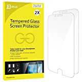 "iPhone 6s Screen Protector, JETech 2-Pack Premium Tempered Glass Screen Protector Film for Apple iPhone 6 / 6s 4.7"" - 0803"