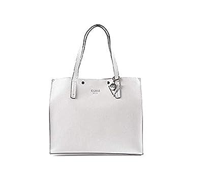 1b18877405 Guess KINLEY LARGE Sac à main Femme Blanc: Amazon.fr: Chaussures et Sacs
