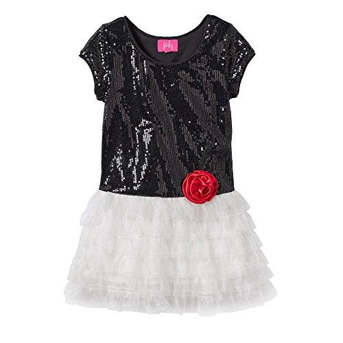 Pinky Los Angeles Drop-Waist Sequin Dress - Toddler (Garden Drop Waist Dress)