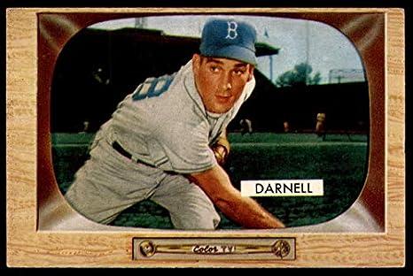 Amazoncom 1955 Bowman 39 Bob Darnell Brooklyn Dodgers Baseball