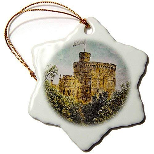 QMSING Scenes from The Past Magic Lantern - Vintage Windsor Castle Round Tower British Royalty England - BH572757