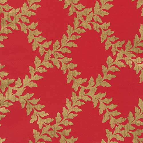 - Caspari Acanthus Trellis 30 in. x 8 ft. Wrapping Paper Rolls in Red & Gold, 2 Rolls Included