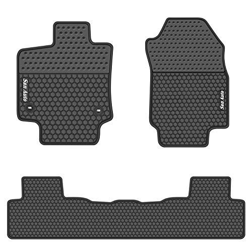white and black car floor mats - 3