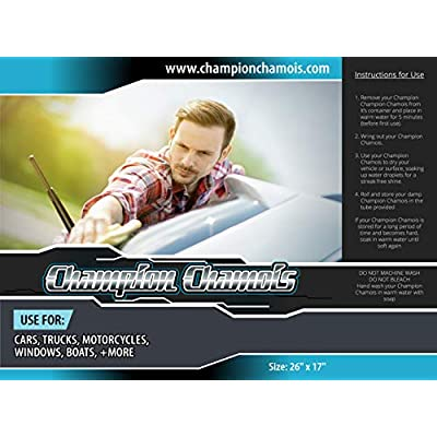 Champion Chamois Shammy Towel for Car, Boat or Home - 26