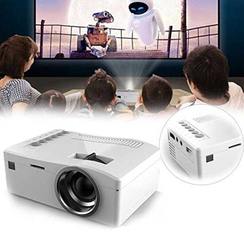 Sinfu Projector 1PC 1080P HD LED Home MulitMedia Theater Cinema USB TV VGA SD HDMI Mini Projector (White) by Sinfu