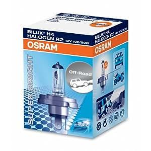 OSRAM OFF-ROAD Lámpara halógena de faros Super Brillante R2 64203 en caja individual