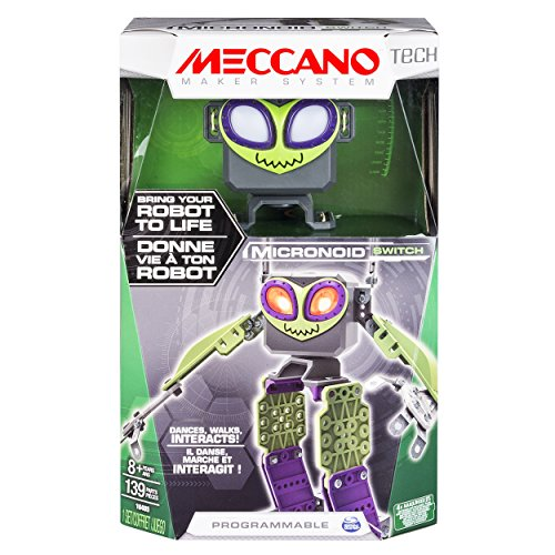 Meccano - Micronoid - Green Switch - Bring Your Robot To Life, Dances, Walks, - Robot Green