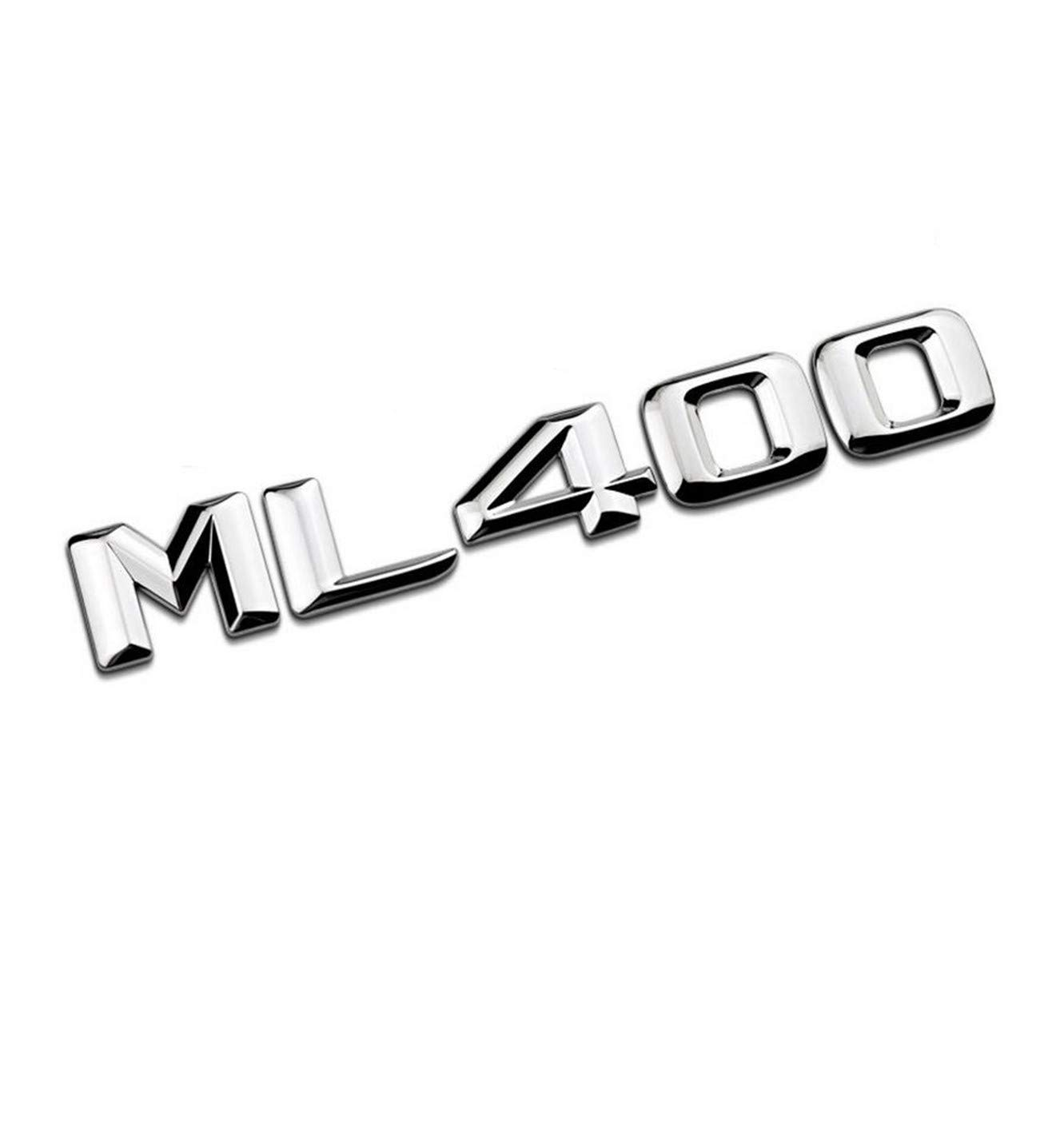 ML400 cvnbdfgjhdfjh Chrome Brillant Argent ML 400 Coffre de Voiture arri/ère Lettres Mot Badge embl/ème Lettre Autocollant Autocollant ML400