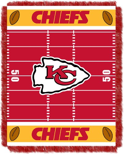 The Northwest Company Officially Licensed NFL Kansas City Chiefs Field Bear Woven Jacquard Baby Throw Blanket, 36