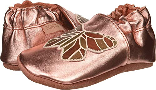 Robeez Girls' Elephant Eddie Crib Shoe, ava Rose Gold, 6-12 Months M US ()