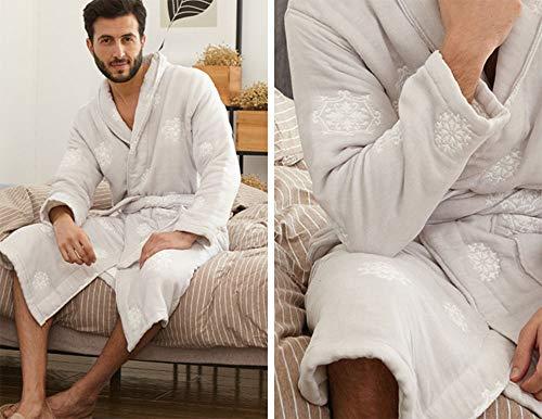 Cómoda Ocho Mujer Algodón Gasa Bata Absorbente Gray Baño Para Hombres Capas De Albornoces Gruesa q4PBxYP