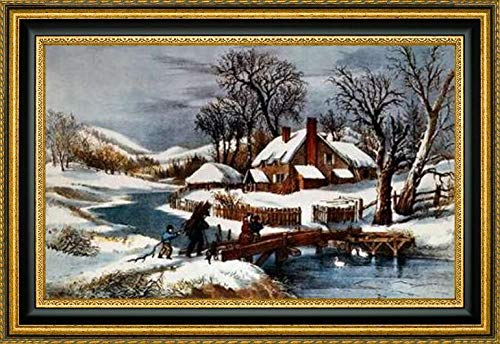 - Ingleside Winter by Currier and Ives - 19.25