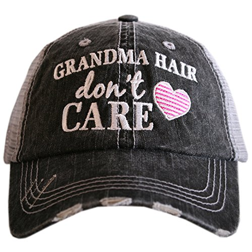 Grandma Hair Don't Care Women's Trucker Hats Caps by Katydid Best Grandma Womens Cap