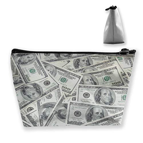 Cool USA Dollar Bill Pencil Case Pen Zipper Bag Coin Organizer Makeup Costmetic Storage Bag Pouch
