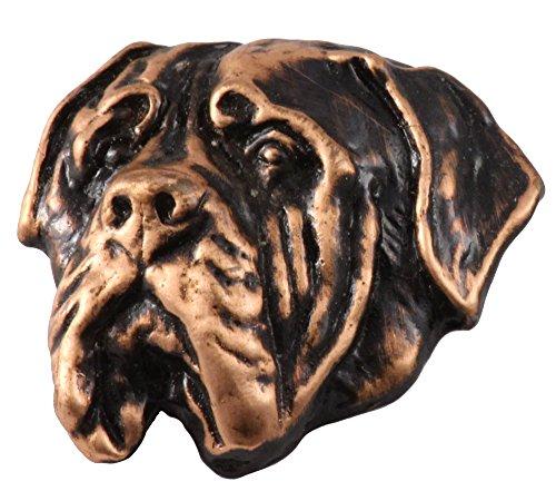 Mastiff Jewelry - Creative Pewter Designs Mastiff Dog Copper Plated Lapel Pin, Brooch, Jewelry, DC122