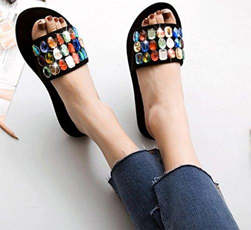 Chaussures Color Scloths Épais Voyage Antidérapant Plage Femme Fond Tongs Étudiant Bnp1Eqw