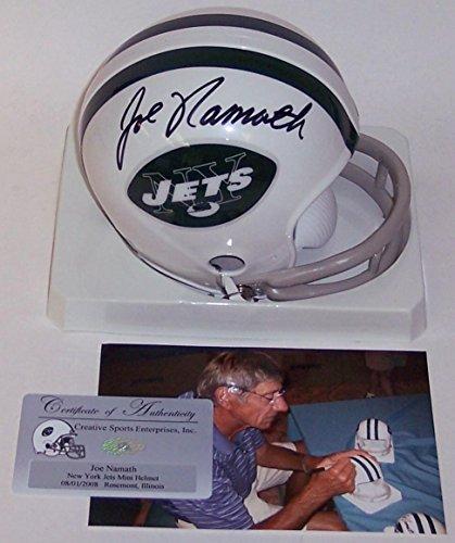 Authentic Autographed Nfl Mini Helmet - Joe Namath Signed Mini Helmet - 2 Bar - PSA/DNA Certified - Autographed NFL Mini Helmets