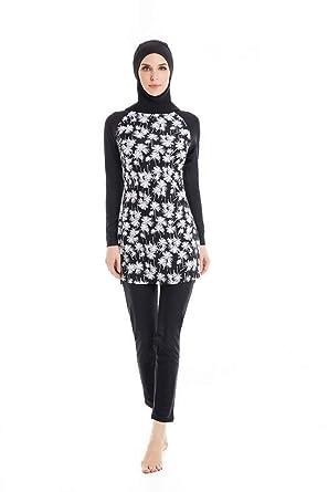 2922ff9642d85 KXCFCYS Modest Muslim Swimwear Islamic Swimsuit Hijab Swimwear Full  Coverage Swimwear Muslim Swimming Beachwear Swim Suit