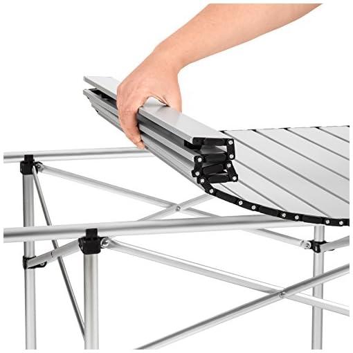 Tavolo Arrotolabile Da Campeggio.Tectake Xxl Tavolo Camper Campeggio Picnic Alluminio Pieghevole
