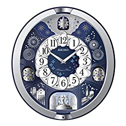 SEIKO Wall Clock, Multicoloured, 44.3 x 40.5 x 9.7 cm