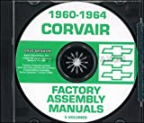 1960 1962 1963 1964 CHEVROLET CORVAIR FACTORY ASSEMBLY INSTRUCTION MANUAL CD IN 5 VOLUMES - INCLUDES Standard, Deluxe, 4-Door Sedan, Club Coupe and Station Wagon vehicles 60 61 62 63 64 CHEVY CORVAIR