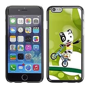 Be Good Phone Accessory // Dura Cáscara cubierta Protectora Caso Carcasa Funda de Protección para Apple Iphone 6 Plus 5.5 // Funny Cute Bicycle Dog