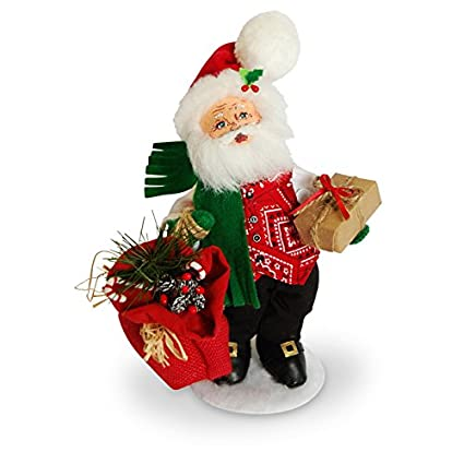annalee 9in rustic yuletide santa - Annalee Christmas Decorations