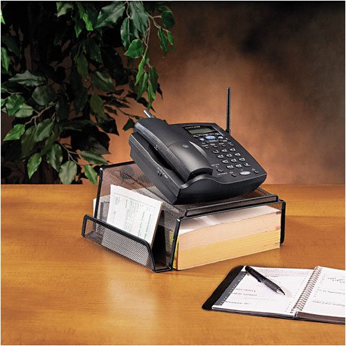 Rolodex : Mesh Telephone Desk Stand, 10 1/8w x 10 5/8d x 4 7/8h, Black -:- Sold as 2 Packs of - 1 - / - Total of 2 Each
