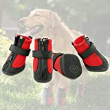 Grand Line Dog Boots Size XL Waterproof Pet Paw Protector with Wear-resistant and Anti-Slip Sole Set of 4