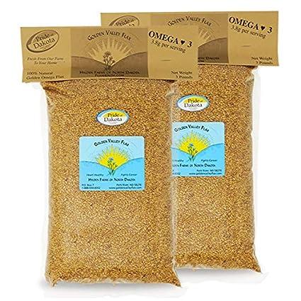 Golden Omega Semillas de lino enteras: Amazon.com: Grocery ...