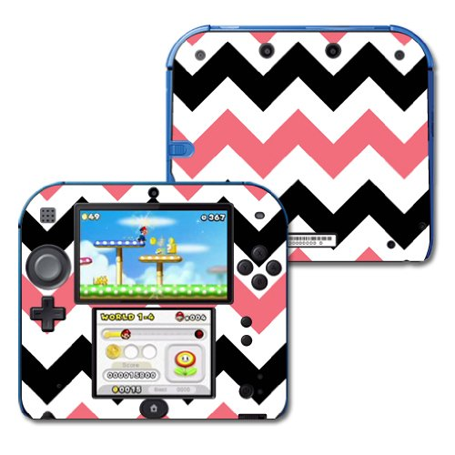 mightyskins-protective-vinyl-skin-decal-cover-for-nintendo-2ds-wrap-sticker-skins-black-pink-chevron