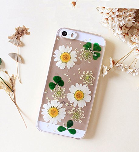 Rebbygena Beautiful Sunflower iPhone 6s Case Custom iPhone 6 Case for Women Real Flower iPhone 6/6s Case and Cover 4.7