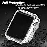 Secbolt 40mm Case Compatible with Apple Watch Band, Bling Full Cover Bumper Protective Frame Screen Protector for iWatch Series 4/5