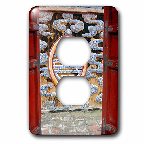 Danita Delimont - Doors - Asia, Vietnam. Ornate wall at the Citadel, Hue, Thua Thien–Hue - Light Switch Covers - 2 plug outlet cover - Outlets Citadel At