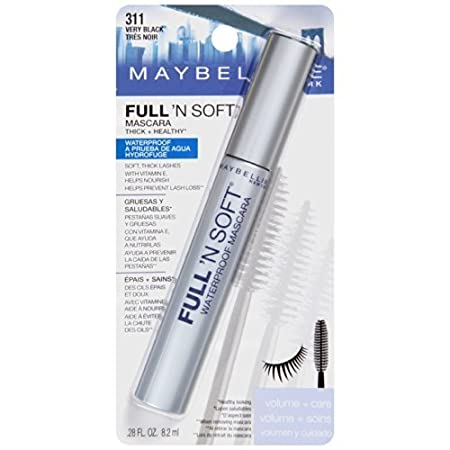 Amazon.com : Maybelline Full N Soft Waterproof Mascara, Very Black [311], 0.28 oz by Maybelline : Beauty