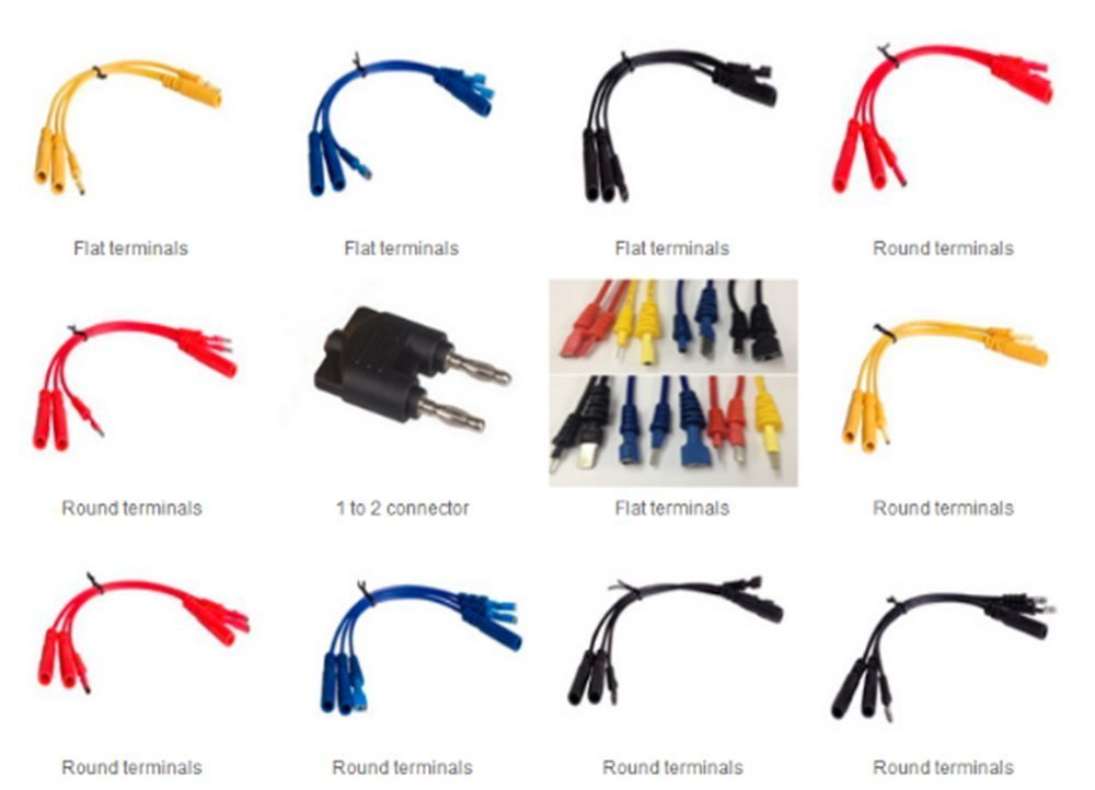 /tester piombo kit contiene 92/pezzi essenziale test Aids /& test lead kit /& terminale elettrico kit /& borsa strumenti diagnostici cavi adattatori Wire set Multifunzione/