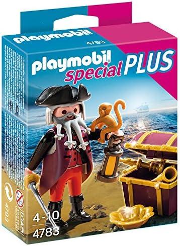PLAYMOBIL Especiales Plus - Pirata con Cofre del Tesoro, playset (4783): Amazon.es: Juguetes y juegos