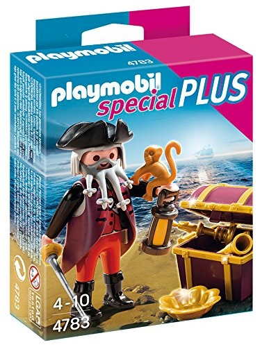 PLAYMOBIL Pirate with Treasure Chest Play (Own Pirate Chest)