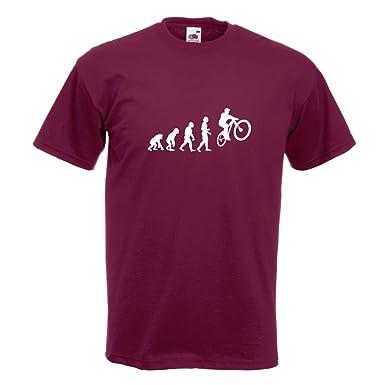 KIWISTAR - Evolution Mountainbike Radfahren T-Shirt in 15 verschiedenen  Farben - Herren Funshirt bedruckt