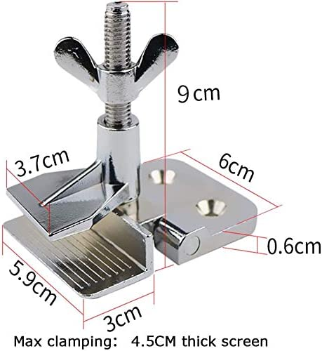 YTFLOT Screen Printing Hinge Clamps 2Pcs of Screen Frame Butterfly for Silk Screen Printing Press Include Four Screws