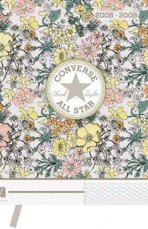 guerra envase Cristo  Converse - Agendas, carnets - Agenda Converse Flower jaune 13x18cm  2008-2009 avec marque-page: Amazon.fr: Fournitures de bureau