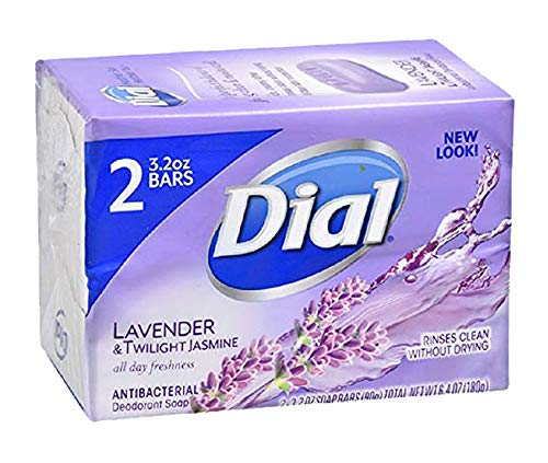 Dial Antibacterial Deodorant Soap Lavender & Twilight All Day Freshness (2 Bars)